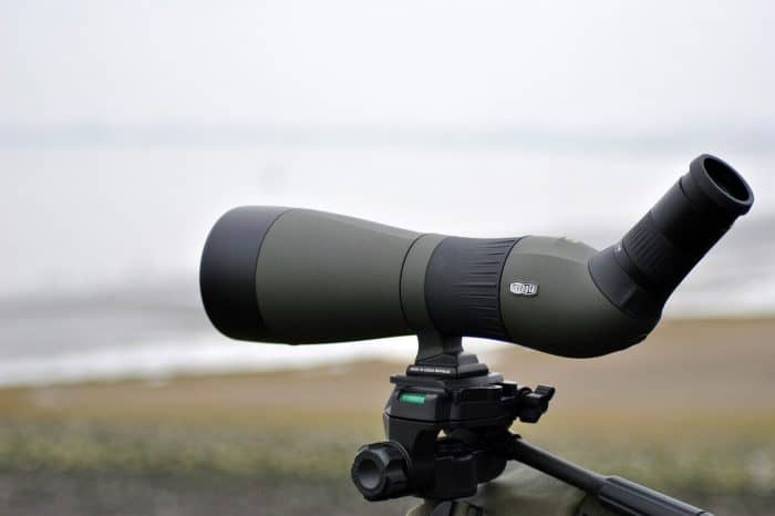 angled or straight spotting scope